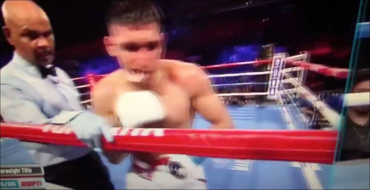 Watch: The Moment Amir Khan Was Stopped By Terence Crawford